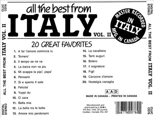All the Best from Italy, Vol. 2: 20 Great Favorites