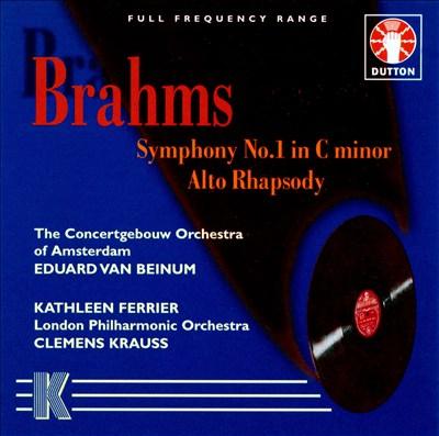 Brahms: Symphony No. 1; Alto Rhapsody
