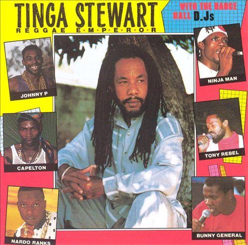 Tinga Stewart with the Dance Hall DJ's
