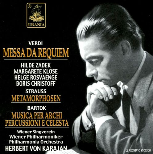 Verdi: Requiem Mass; Bartok: Music Sz106