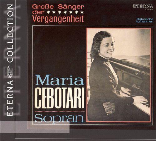 Groß Sänger der Vergangenheit: Maria Cebotari