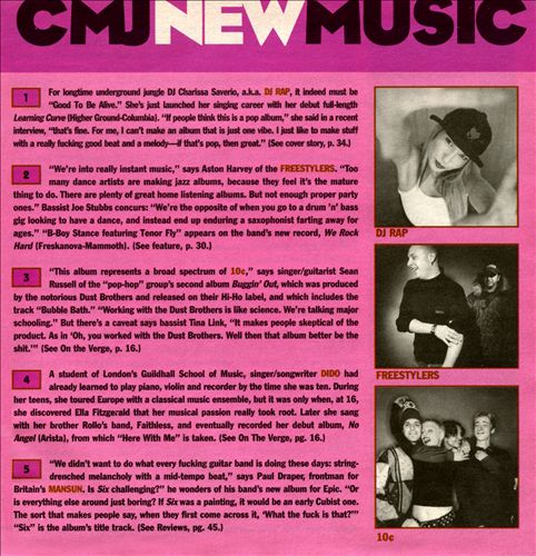 CMJ New Music, Vol. 70
