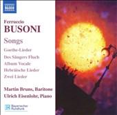 Busoni: Songs