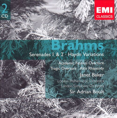 Brahms: Serenades Nos. 1 & 2; Haydn Variations; Academic Festival Overture; Tragic Overture; Alto Rhapsody