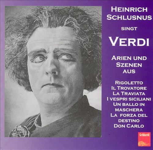 Heinrich Schlusnus singt Verdi