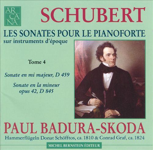Schubert: Les Sonates pour le Pianoforte, Tome 4: D459 & D845