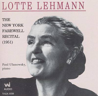 The New York Farewell Recital (1951)