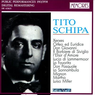 Tito Schipa: Public Performances 1913/1938