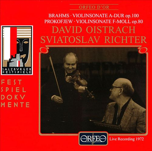 Brahms: Violinsonate A-Dur op. 100; Prokofiev: Violinsonate f-moll op. 80