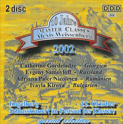Alexis Weissenberg Master Classes: Highlights des Schlusskonzerts 2002