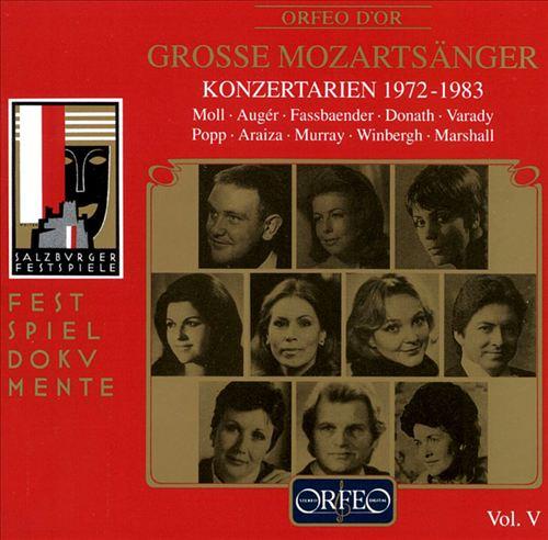 Great Mozart Singers, Vol. 5: Concert Arias 1972-83