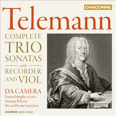 Telemann: Complete Trio Sonatas with Recorder and Viol