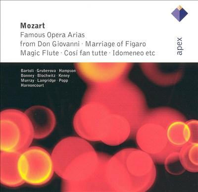 Mozart: Famous Opera Arias from Don Giovanni, Marriage of Figaro, Magic Flute, Cosi fan tutte, Idomeneo, etc