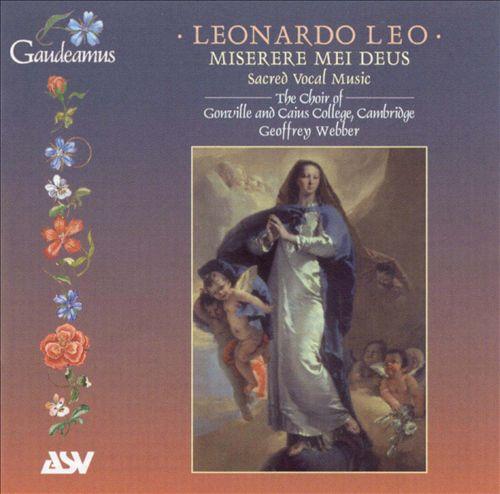 Leonardo Leo: Sacred Vocal Music