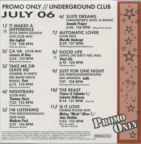 Promo Only: Underground Club (July 2006)