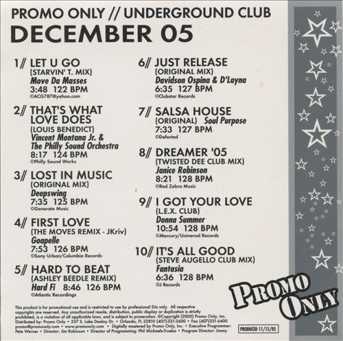 Promo Only: Underground Club (December 2005)