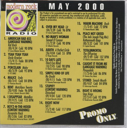 Promo Only: Modern Rock (May 2000)
