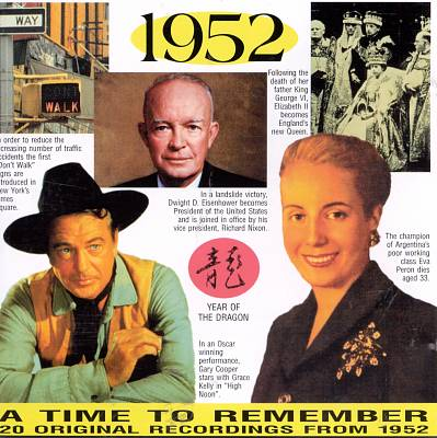 1952: A Time to Remember, 20 Original Chart Hits
