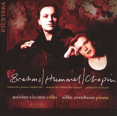 Brahms, Hummel, Chopin