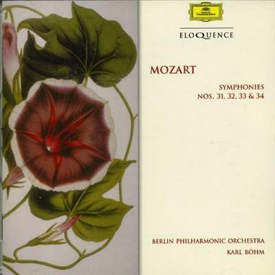 Mozart: Symphonies Nos. 31, 32, 33 & 34