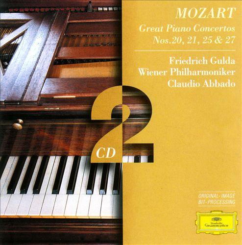 Mozart: Great Piano Concertos, Nos. 20, 21, 25 & 27