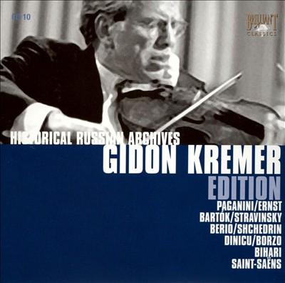 Gidon Kremer Edition: Paganini, Ernst, Bartok, Stravinsky, Perio, Shchedrin, Etc.