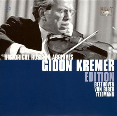 Gidon Kremer Edition: Beethoven, Von Biber, Telemann