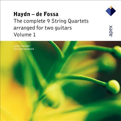 Haydn: Complete 9 String Quartets arranged for Two Guitars Vol. 1