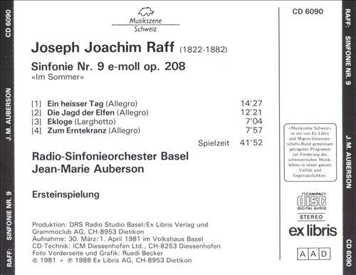 Joseph Joachim Raff: Sinfonie Nr. 9