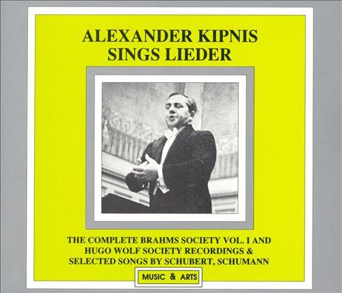 Alexander Kipnis sings Lieder