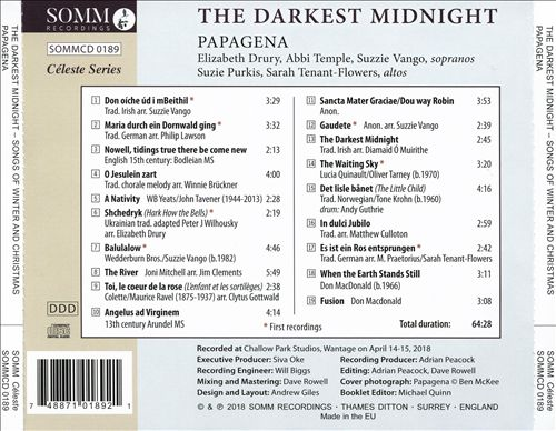 The Darkest Midnight: Songs of Winter and Christmas