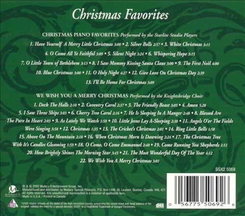 Christmas Favorites [2CD Madacy]