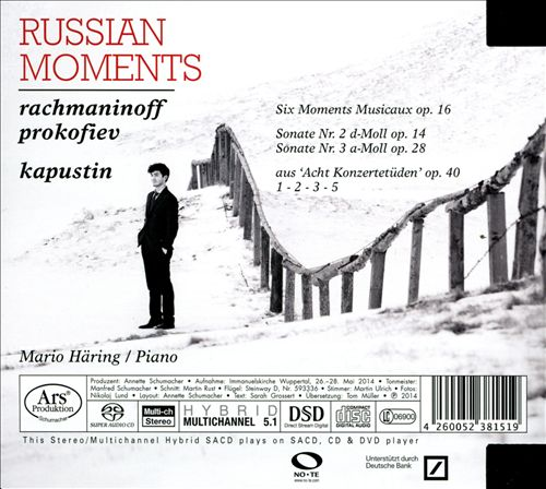 Russian Moments: Rachmaninoff, Prokofiev, Kapustin