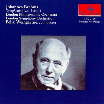 Brahm's: Symphonies 3 & 4