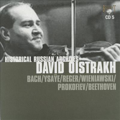 Historic Russian Archives: David Oistrakh, CD 5