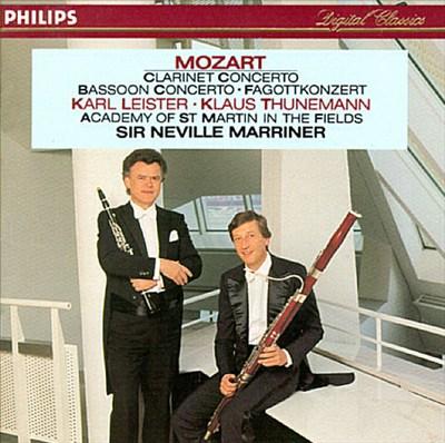 Mozart: Clarinet Concerto in A; Sonata in B flat; Bassoon Concerto in B flat