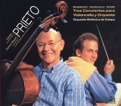 Prieto plays Tres Conciertos para Violoncello y Orquesta