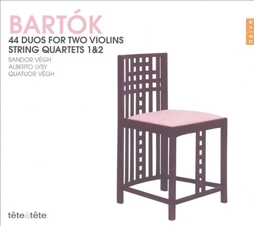 Bartók: 44 Duos for Two Violins; String Quartets 1 & 2