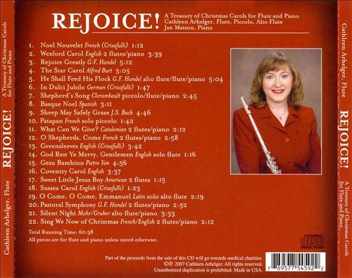 Rejoice! A Treasury of Christmas Carols for Flute and Piano