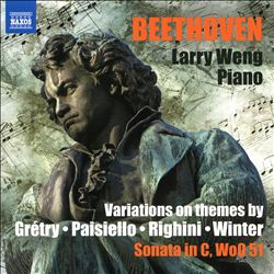 Beethoven: Variations on Themes by Grétry, Paisiello, Righini, Winter