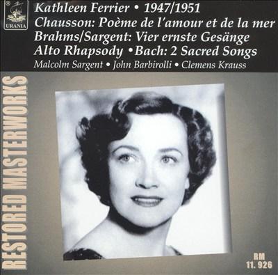 Restored Masterworks: Kathleen Ferrier, 1947/51