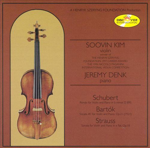 Schubert, Bartók, Strauss:  Violin Music