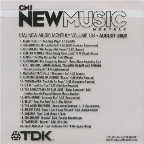 CMJ New Music, Vol. 104