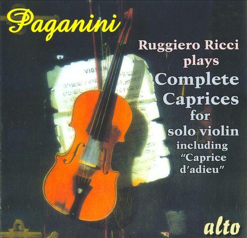 Paganini: Complete Caprices for Solo Violin