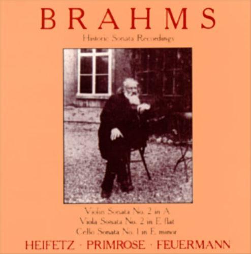 Brahms: Historic Sonata Recordings