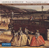 Leopold Kozeluch: Piano Concertos 1, 4 & 5