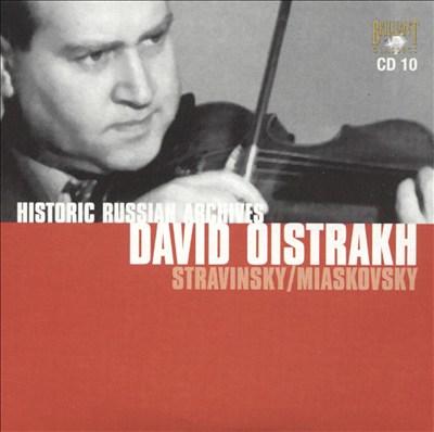 Stravinsky, Miaskovsky