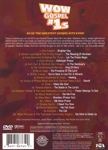 Wow Gospel #1s: 20 Of The Greatest Gospel Hits Ever! [DVD]