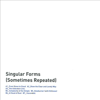 Singular Forms (Sometimes Repeated)