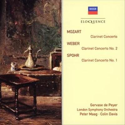 Mozart: Clarinet Concerto; Weber: Clarinet Concerto No. 2; Spohr: Clarinet Concerto No. 1 [Australia]